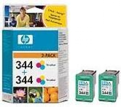 IdealOffice, HP 344 Tri-colour Inkjet Print Cartridge 2-pack with Vivera Inks/C9505EE/2 x 450 страници при 15% покритие/95 лв с ДДС