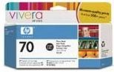 IdealOffice, HP 70 130 ml Photo Black Ink Cartridge with Vivera Ink, HP Designjet Z2100, Z3100 /C9449A/115 лв с ДДС