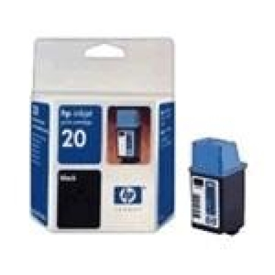 IdealOffice, HP 20 Black Inkjet Print Cartridge (28ml)/C6614DE/455 копия (5% покритие)/52 лв с ДДС