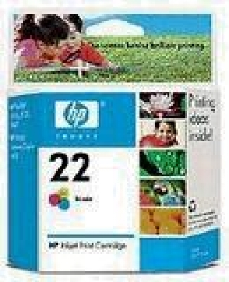 IdealOffice, HP 22 Inkjet Print Cartridge, tri-colour/C9352AE/138 стр. при 5% запълване/28 лв с ДДС