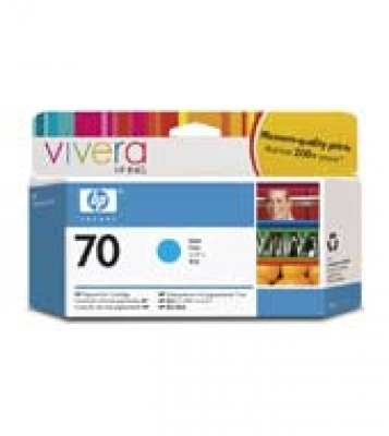 IdealOffice,  HP 70 130 ml Cyan Ink Cartridge with Vivera Ink, HP Designjet Z2100, Z3100/C9452A/115 лв с ДДС