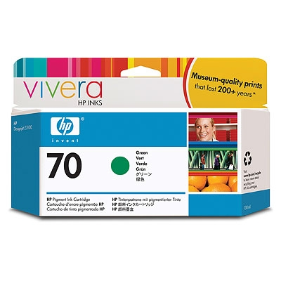 IdealOffice, HP 70 130 ml Green Ink Cartridge with Vivera Ink, HP Designjet Z3100 /C9457A/115 лв с ДДС